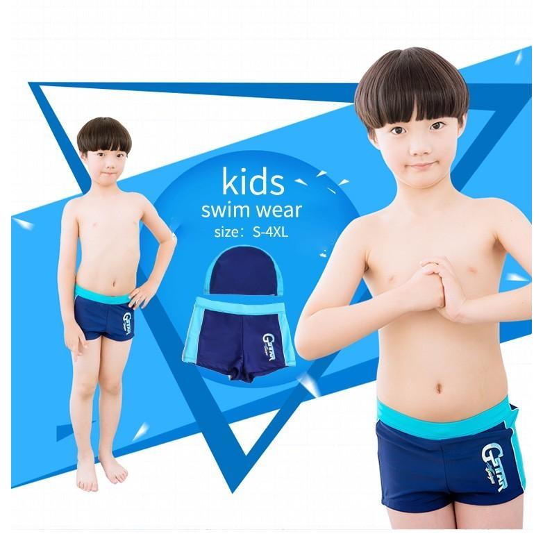 f3a100df7a3b67 水着 男児 子供 男の子 無地 スクール水着 水泳帽 水泳帽子 男子 ロング ...