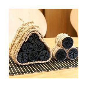 炭俵(炭たわら)インテリア黒炭 大サイズ|sizen|02