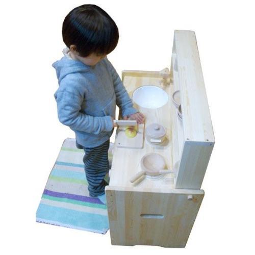 木遊舎 おままごとキッチン(白木)|sizen|03