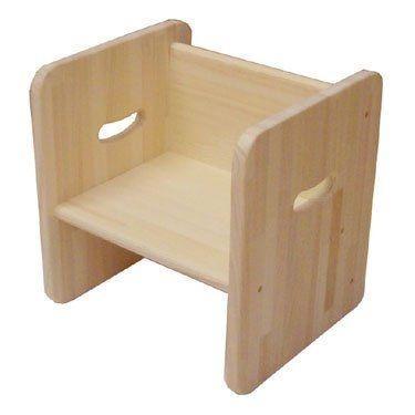 木遊舎 ひのきちびっ子チェア ステップ3(白木) sizen