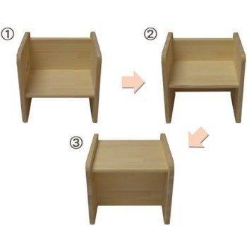 木遊舎 ひのきちびっ子チェア ステップ3(白木) sizen 02