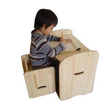 木遊舎 ひのきちびっ子チェア ステップ3(白木) sizen 03