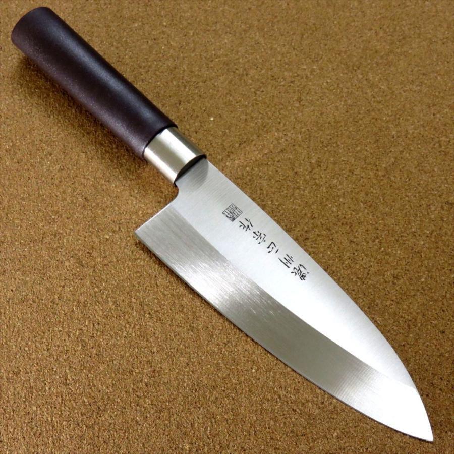 関の刃物 出刃包丁 16.5cm (165mm) 濃州正宗作 ステンレス刃物鋼 魚 鳥 肉解体 刃先がしならない 刃が厚く重い片刃包丁 右利き用 日本製 sk2excellent