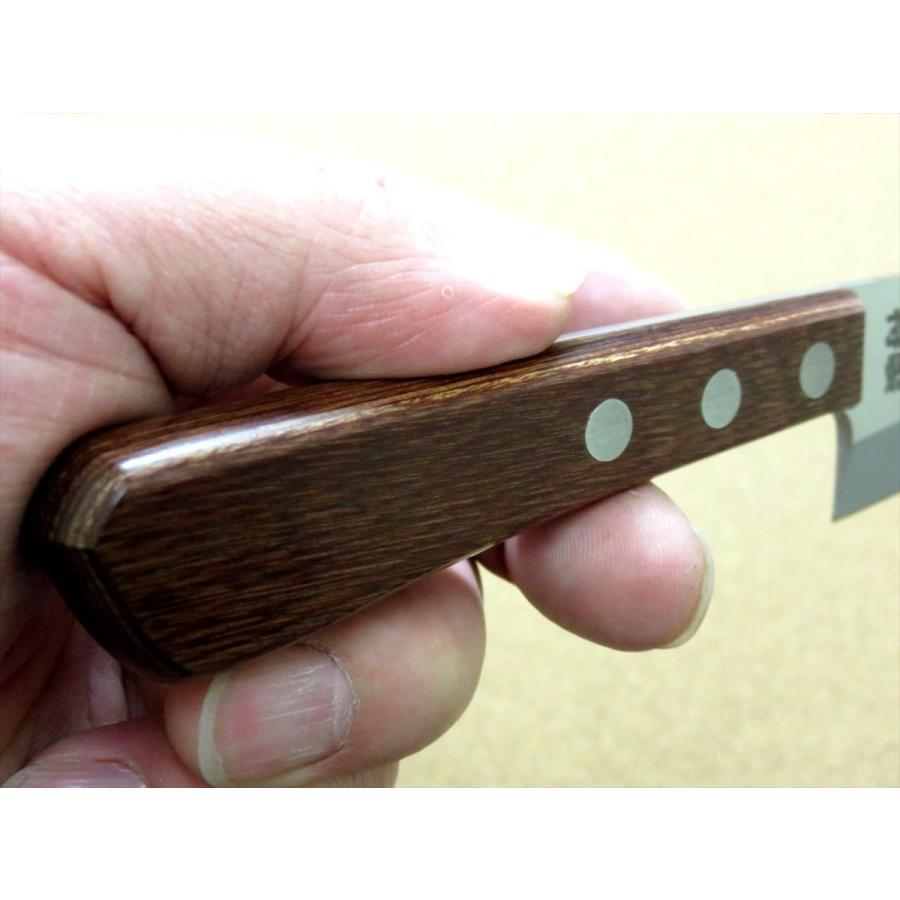 関の刃物 小出刃包丁 9.5cm (95mm) 十三秀 特製 6A モリブデンステンレス 魚の身を細かくおろす 右利き用 片刃包丁 日本製|sk2excellent|09