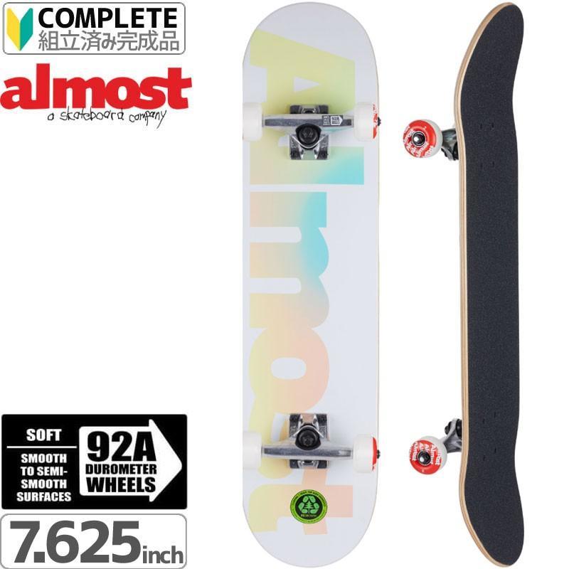 スケートボード コンプリート スケボー ALMOST オールモスト 初心者 PASTEL FADE COMPLETE 7.625 92A NO29