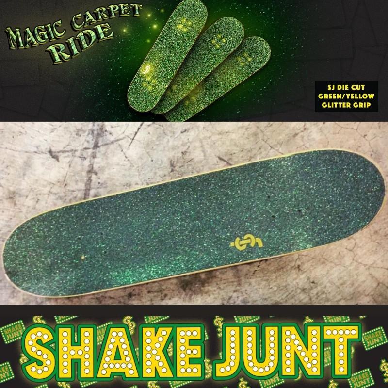 Shake Junt DIE Cut Grip Tape Skateboard Deck Griptape Sheet Black