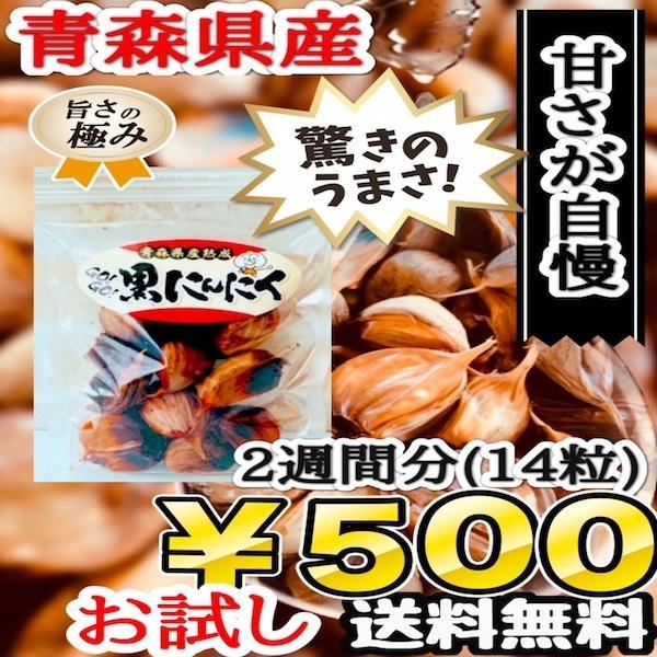 青森県産 熟成 黒にんにく お試しパック 2週間分 送料無料 ワンコイン|skgm412