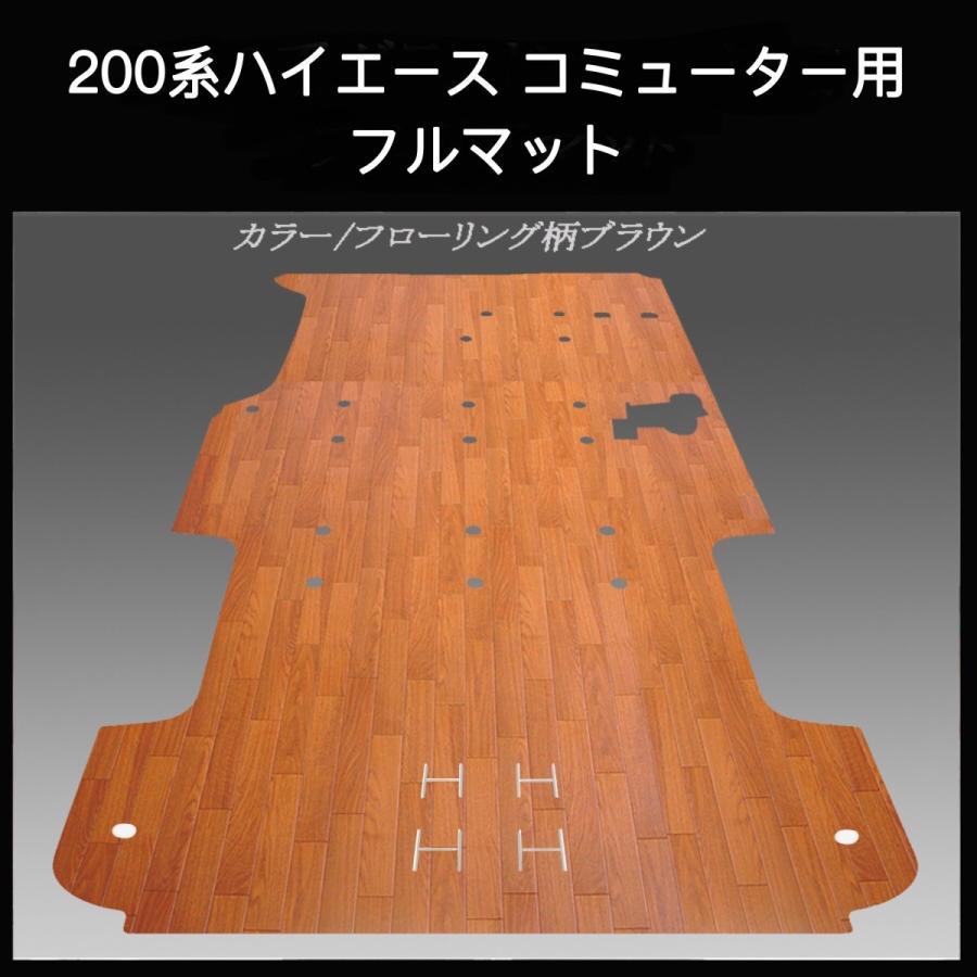200系ハイエース /レジアス エース コミューター用フルフロアーマット/フローリング ブラウン skil-store