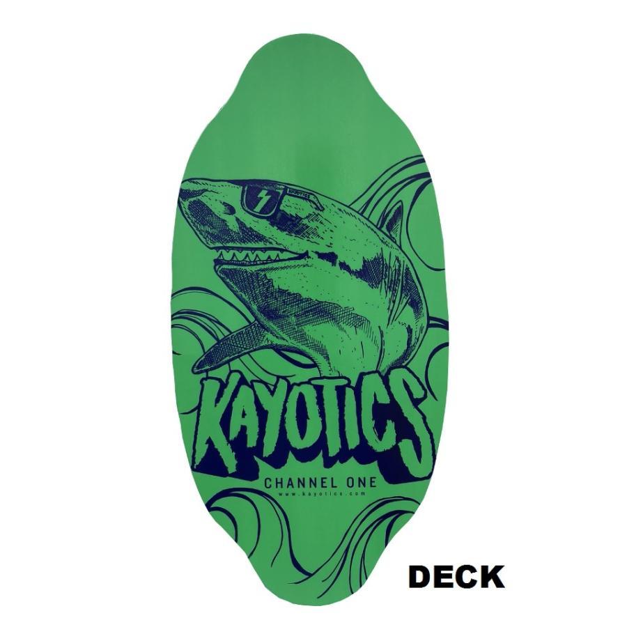フラットスキム ランド Kayotics カヨティックス「Channel-One」LIMTED EDTION「ANKLE SHARK」 Size:99.5cm×49.5cm デッキテープ付|skimpeace-store|03