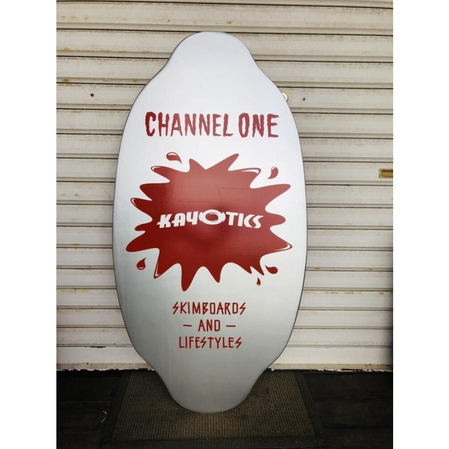 フラットスキム ランド Kayotics カヨティックス 「Channel-One」レッド×シルバー Size:99.5cm×49.5cm デッキテープ付 展示品未使用アウトレット skimpeace-store 03