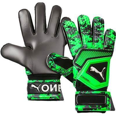 PUMA プーマ ブラック×グリーン ワン グリップ 1 RC サッカー キーパーグローブ 手袋 041470-22