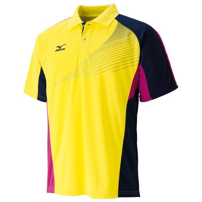 MIZUNO ミズノ テニスゲームシャツ ブレイジングイエロー 62JA601244