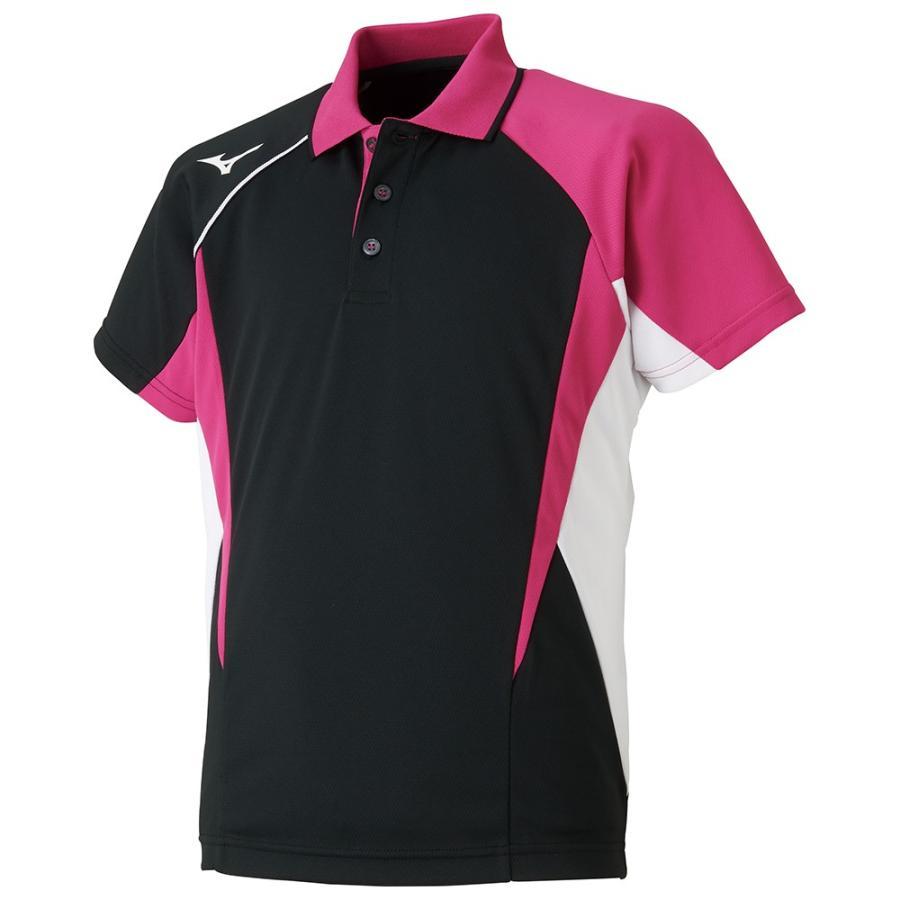 MIZUNO ミズノ ゲームシャツ ラケットスポーツ ジュニア ブラック テニス バトミントン 62JA800409