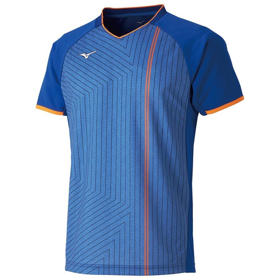 MIZUNO ミズノ ゲームシャツ ラケットスポーツ ユニセックス リフレックスブルー テニス バトミントン 62JA900725