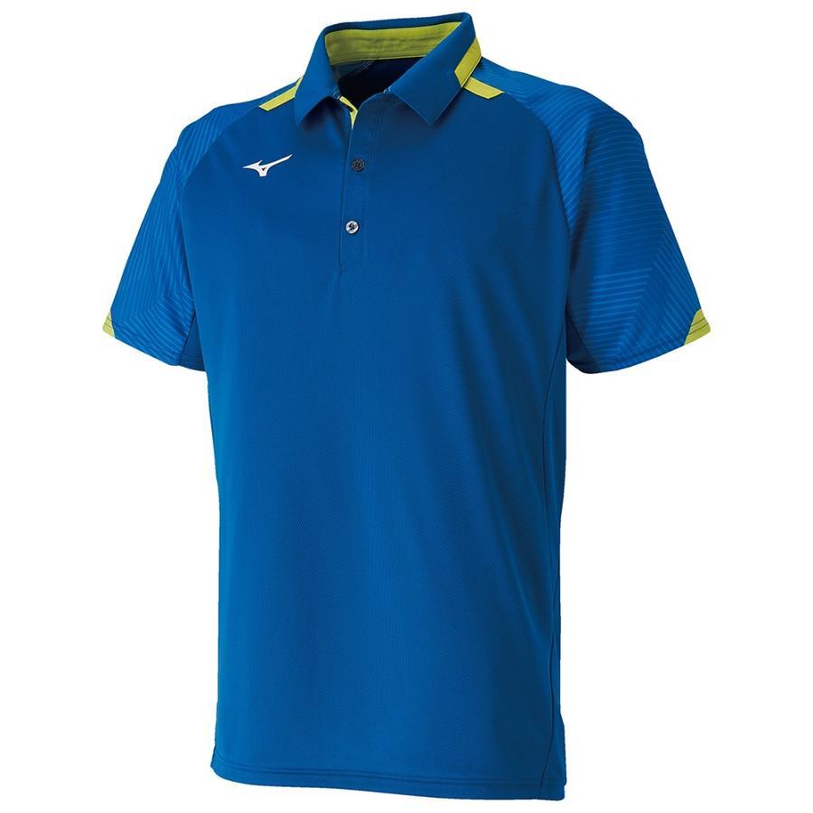 MIZUNO ミズノ ゲームシャツ ラケットスポーツ ユニセックス シュノーケルブルー テニス バトミントン 62JA950725