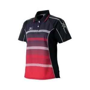 ミズノ MIZUNO ゲームシャツ レディース ラケットスポーツ テニス ブラック A75HW36009