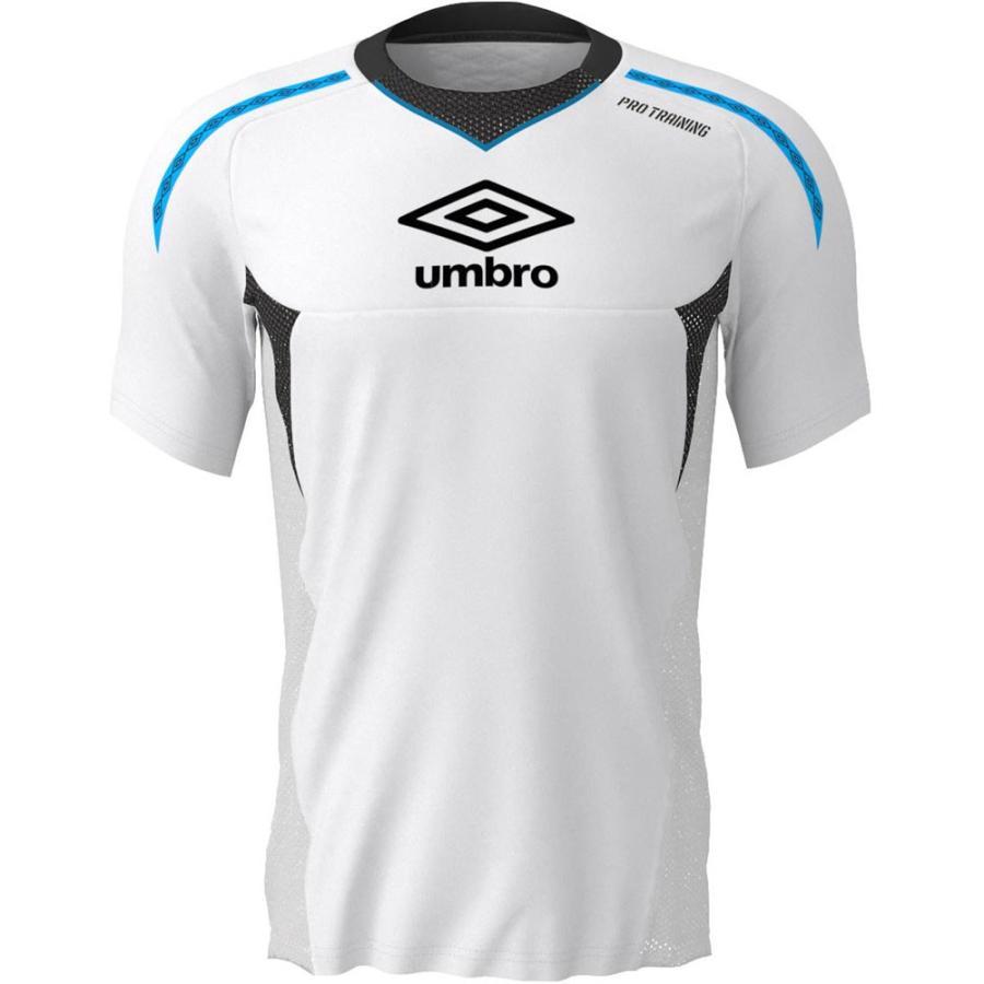 UMBRO アンブロ PRO-TRパフオーマンス半袖シャツ ホワイト UUUNJA50- ホワイト サッカー