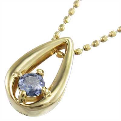 人気満点 タンザナイト ペンダント ネックレス 一粒 k18イエローゴールド 12月誕生石, スエマチ 5d3574c9