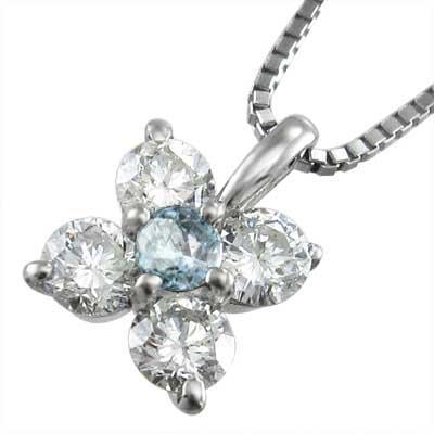 【破格値下げ】 ペンダント ファイブ ストーン アクアマリン 天然ダイヤモンド 3月の誕生石 プラチナ900, 住器プラザ 3a6de51c