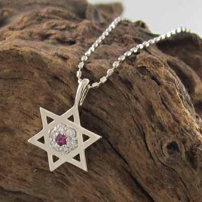 【誠実】 ジュエリー ネックレス ルビー 天然ダイヤモンド ヘキサグラム 星の形 k10ピンクゴールド 7月誕生石 小サイズ, ShoeLike 5929feba