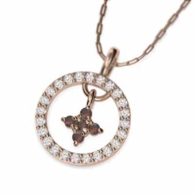 【公式ショップ】 ペンダント ネックレス 十字架 ガーネット 1月の誕生石 k10ピンクゴールド, サイキシ d42c2370