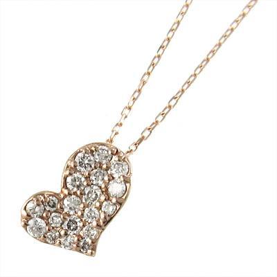 史上一番安い ジュエリー ネックレス ハート 型 ダイヤモンド 4月誕生石 ピンクゴールドk10, ベビーネットショップ 8d41b546