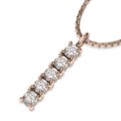 【楽天ランキング1位】 k18ピンクゴールド ペンダント ネックレス ダイアモンド, 東大和市 d6578e14