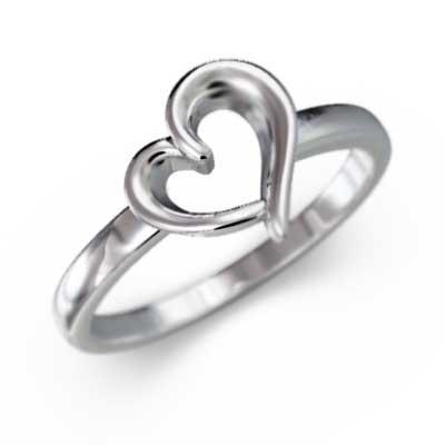 好きに 指輪 k18ホワイトゴールド 指輪 スタンダード 変形ハート 変形ハート スタンダード, 安心バラ苗の店:c0c7dc1e --- airmodconsu.dominiotemporario.com