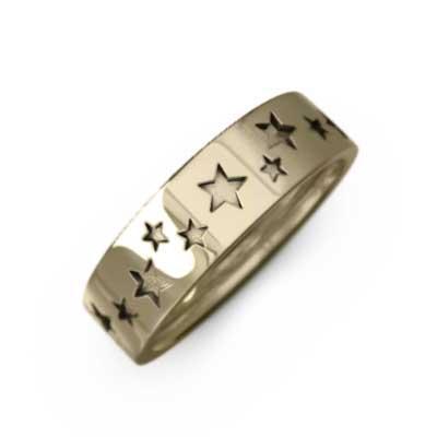 最新最全の 平打ち リング スター 星 シンプル k10イエローゴールド 幅, ラベルシール専門店 おおきに 2472dde2