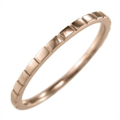 多様な 甲丸 指輪 スタンダード 10kピンクゴールド 約1.4mm幅 ハーフ溝入り, 鬼無里村 cb599991