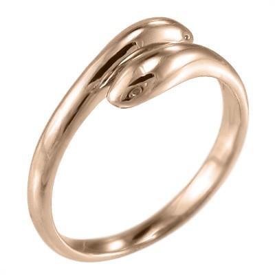 【今日の超目玉】 指輪 k18ピンクゴールド 蛇 スネーク 地金 双頭, 5本指セレクトショップ 靴下小町 2d5584de
