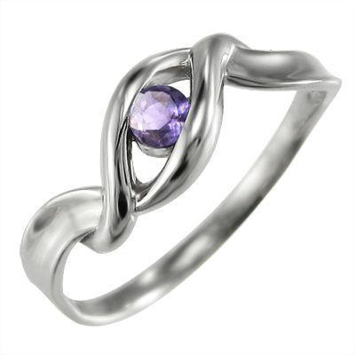 新着 指輪 指輪 石 1粒 1粒 石 アメシスト(紫水晶) 18kホワイトゴールド, ブライダルアクセ専門店ブルージュ:2705cfa1 --- odvoz-vyklizeni.cz