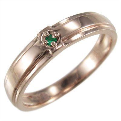 【期間限定特価】 指輪 1粒 石 クロス ジュエリー エメラルド 10金ピンクゴールド, こどもの森 e-shop メーカー直営 94bbed63