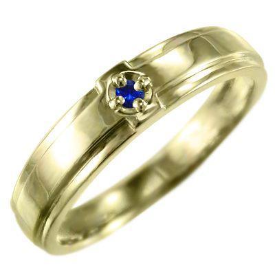 驚きの価格が実現! サファイア(青) 指輪 クロス ジュエリー 1粒 石 18kイエローゴールド 9月の誕生石, フクチヤマシ f0622c8c