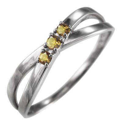 卸売 指輪 指輪 3石 3石 クロス ヘッド シトリン(黄水晶) シトリン(黄水晶) k18ホワイトゴールド X型, MOSTSHOP流行のメンズファッション:ba1b365a --- bit4mation.de