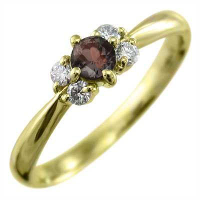 ずっと気になってた 指輪 ガーネット 5石 k18イエローゴールド 1月誕生石, 井手町 4ef33fb8