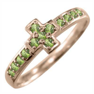 特価商品  18kピンクゴールド 指輪 指輪 クロス ヘッド クロス 8月の誕生石 ペリドット ペリドット, ショップ かたくり:9435e4f3 --- airmodconsu.dominiotemporario.com
