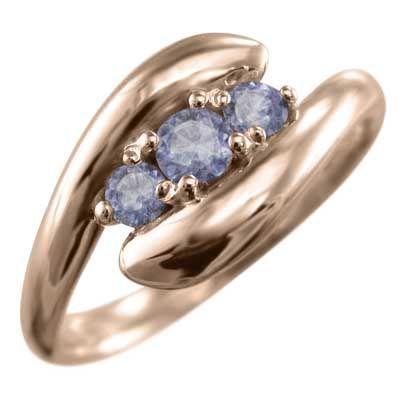 『2年保証』 指輪 3石 金運 象徴 指輪 ヘビ 金運 タンザナイト 12月の誕生石 タンザナイト k10ピンクゴールド, Anniversary Style:3731ef6a --- airmodconsu.dominiotemporario.com