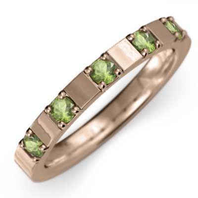 スーパーセール期間限定 平打ちの 平打ちの 指輪 指輪 5ストーン ペリドット k10ピンクゴールド ペリドット 8月誕生石, シラヌカチョウ:30de75b7 --- airmodconsu.dominiotemporario.com