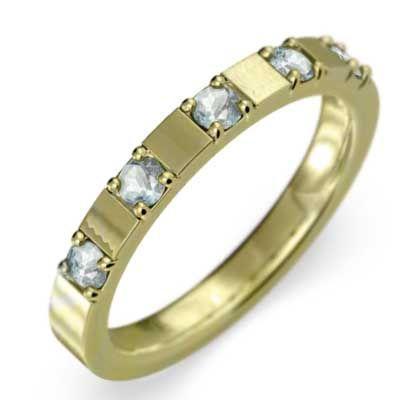割引クーポン 平らな指輪 5石 5石 アクアマリン アクアマリン 3月の誕生石 3月の誕生石 18金イエローゴールド, アムリエ:b4e3e56b --- airmodconsu.dominiotemporario.com