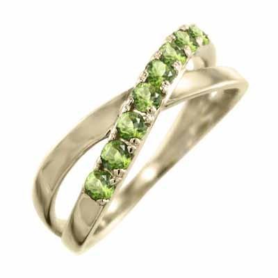 見事な 指輪 X型 8月の誕生石 クロス ヘッド ペリドット 8月の誕生石 指輪 K10 X型, JB Tool:c18d5aac --- airmodconsu.dominiotemporario.com