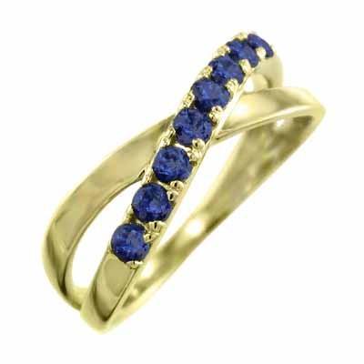 【年中無休】 k18イエローゴールド 指輪 クロス ヘッド 指輪 9月誕生石 ブルーサファイア ヘッド クロス X型, US-NEXT:b5d16766 --- bit4mation.de