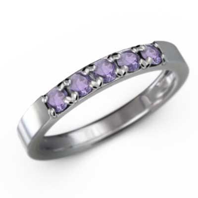 新着 Pt900 リング ファイブストーン アメジスト(紫水晶) 2月誕生石, 最先端 9c258bdf