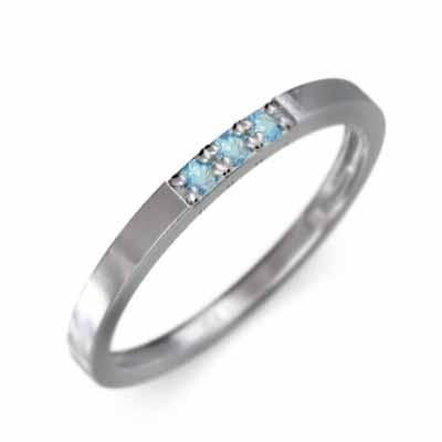 超特価激安 平打ちの 指輪 指輪 幅約1.7mmリング 3ストーン ブルートパーズ(青) 18金ホワイトゴールド 細め 11月誕生石 幅約1.7mmリング 細め, 着物 卸直営店 京都マルヒサ:a3dcb5de --- bit4mation.de