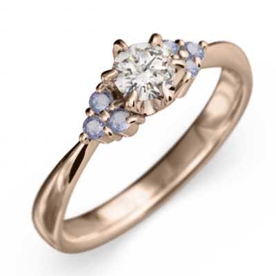 値頃 マリッジリング にも タンザナイト 天然ダイヤモンド 18kピンクゴールド 12月誕生石, SECRET BASE d07e8743