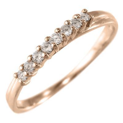 お気に入り ハーフ エタニティ 指輪 天然ダイヤモンド k10ピンクゴールド, ROOM102 7c124e6b