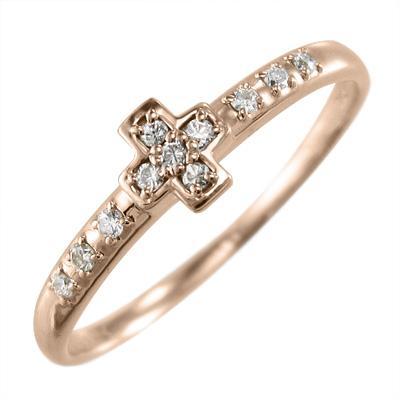 【テレビで話題】 18金ピンクゴールド 4月誕生石 リング クロス 天然ダイヤモンド リング 4月誕生石 クロス, マニライズ:be60063c --- airmodconsu.dominiotemporario.com