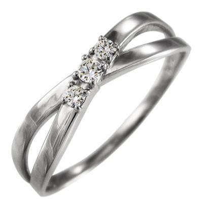 【一部予約販売】 ダイヤモンド 指輪 4月誕生石 クロス クロス ジュエリー 3石 ジュエリー k18ホワイトゴールド 4月誕生石, シゼム:1a4380c1 --- bit4mation.de