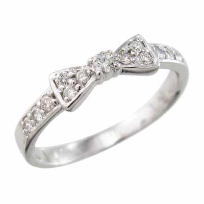 見事な創造力 リング ダイアモンド リボン 1粒石 k10ホワイトゴールド 4月誕生石, スクールシャツ通販 0025d039