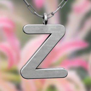 卸し売り購入 (名前 ネーム イニシャル) ネックレス 大文字のZ プラチナ, スグくる 6300104c